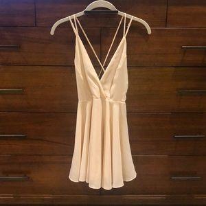 Urban outfitters silence + noise cream mini dress